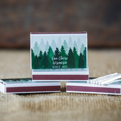 Volume One Matchbox - Eau Claire, WI Trees (Box of Matches)