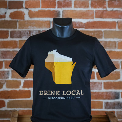 Volume One Drink Local Beer Tee