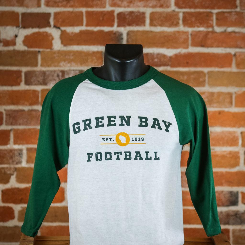 Volume One Green Bay Football 3/4 Tee