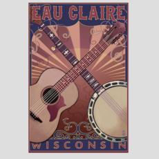 Volume One Eau Claire Guitar & Banjo Print (12x18)