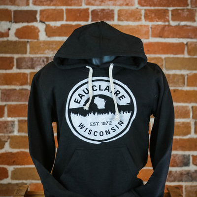 Volume One Eau Claire Forest Hoodie (Black & White)