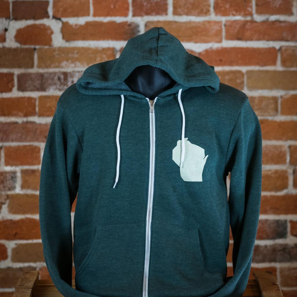Volume One Hoodie Zip Up Sweatshirt - WI Splittin' & Stackin'