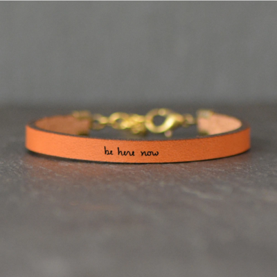 Laurel Denise LLC Leather Bracelet - Be Here Now