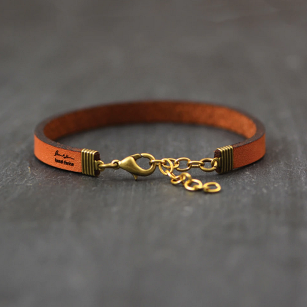 Laurel Denise LLC Leather Bracelet - Be Here Now