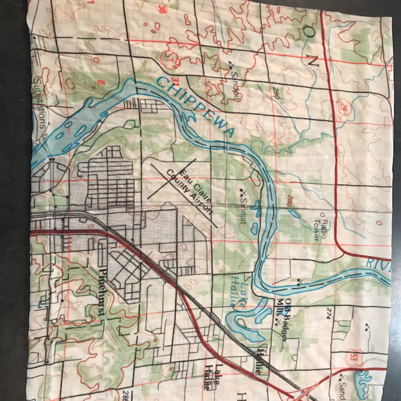 Volume One Eau Claire Map Scarf - Topo