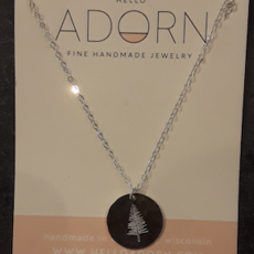Adorn Jewelry Evergreen Tree Necklace - Silver
