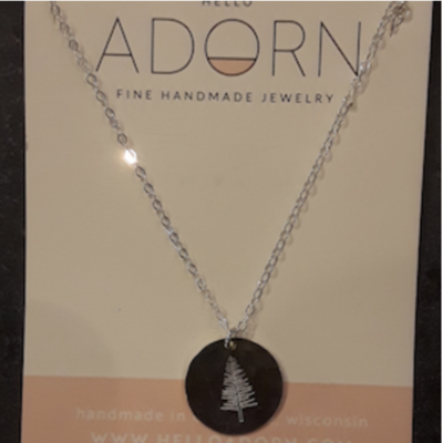 Adorn Jewelry Evergreen Tree Necklace - Gold
