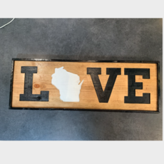 Riverside Creations and Woodworking Love Wood Sign - Large