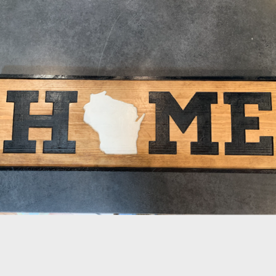 Riverside Creations and Woodworking Home Wood Sign - Large