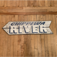 Volume One Chippewa River Arrow - Left Wooden Sign