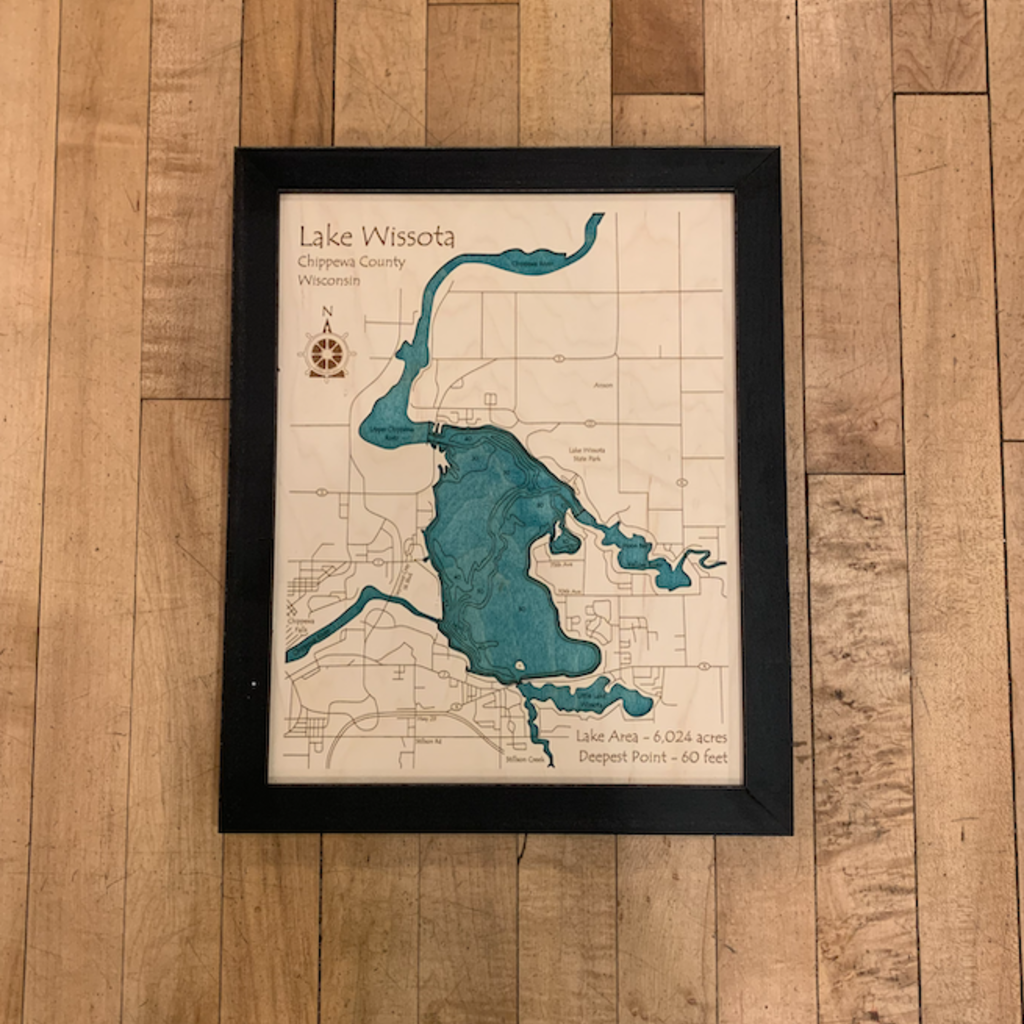 Framed Art - Lake Wissota (11x14)