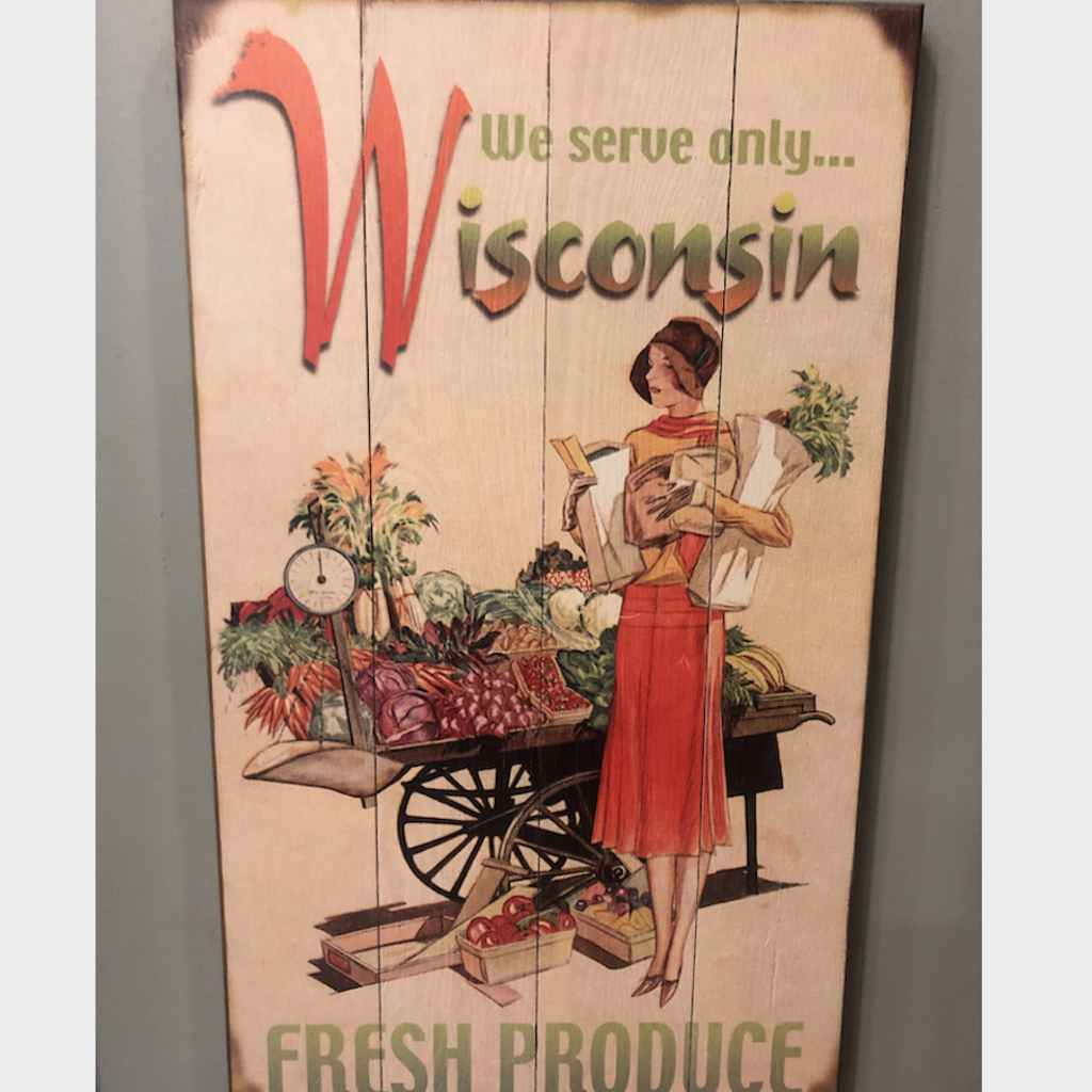 Volume One Chippewa Valley Fresh Produce Wooden Sign