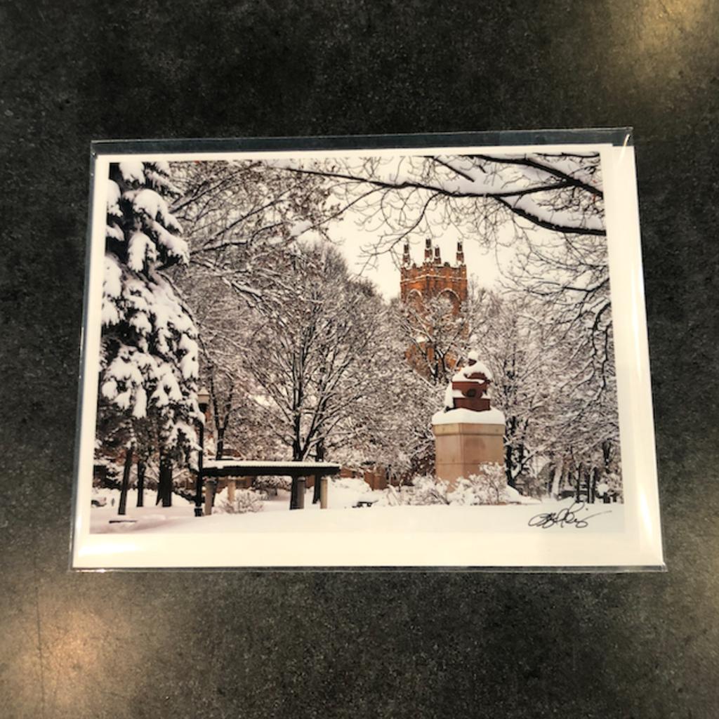 Lloyd Fleig Winter in the Park Greeting Card