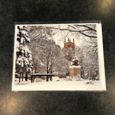 Lloyd Fleig Winter in the Park Greeting Card