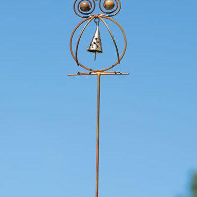 Volume One Garden Stake - Owl w/ Bell