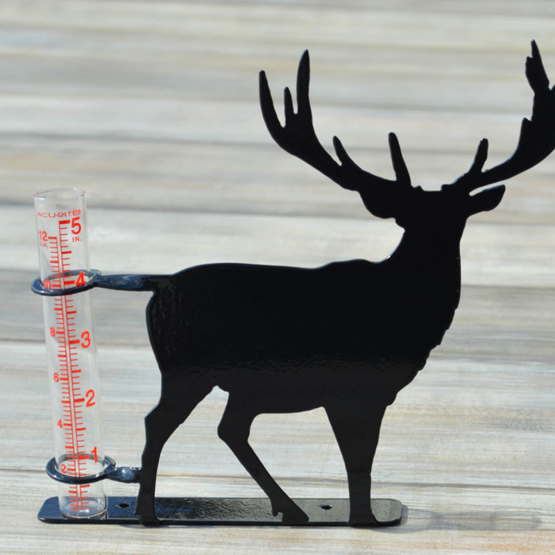 Rain Gauge - Metal Deer