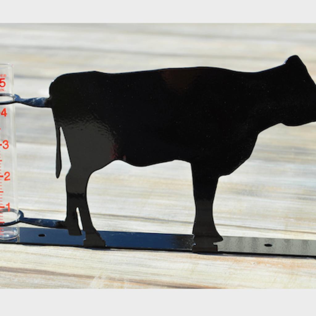 Rain Gauge - Metal Cow