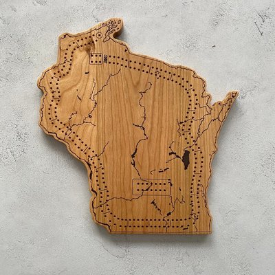 Endle Home Goods Cribbage Board - Wisconsin Waterways