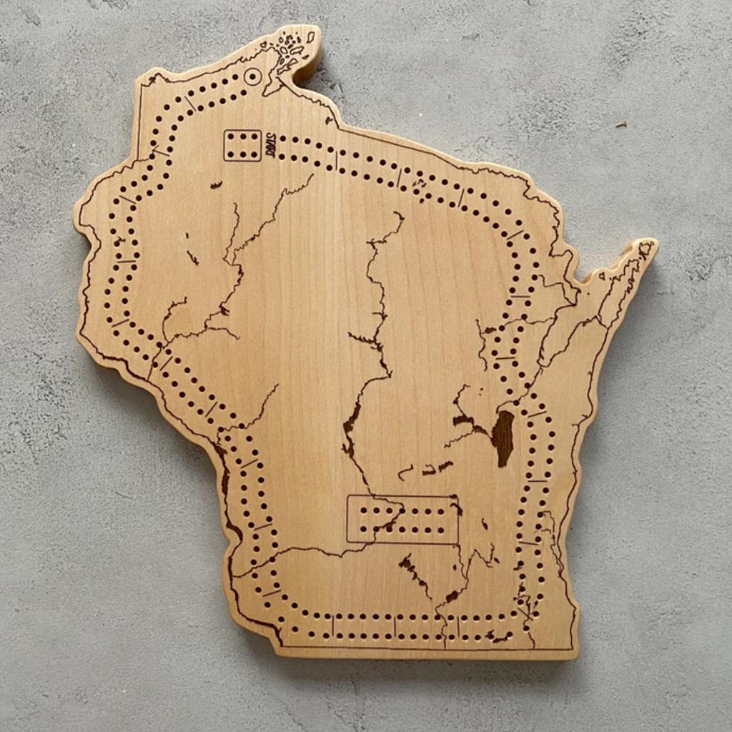 Endle Home Goods Cribbage Board - Wisconsin Waterways