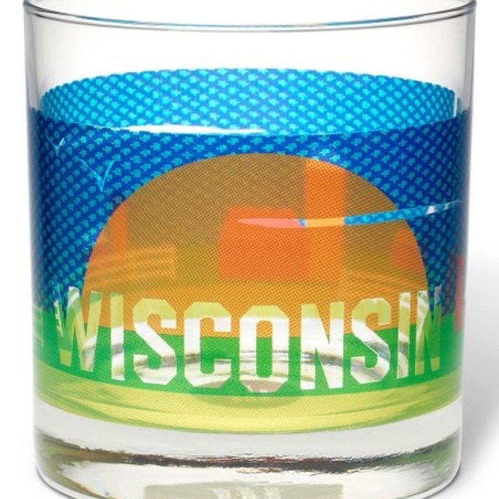 Volume One Rocks Glass - Wisconsin Farm Scene