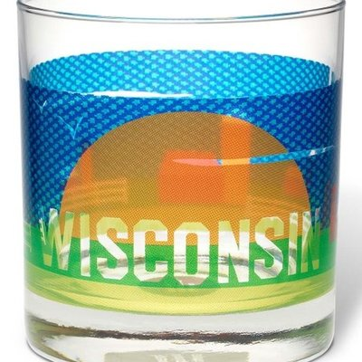 Volume One Rocks Glass - Wisconsin Farm Scene