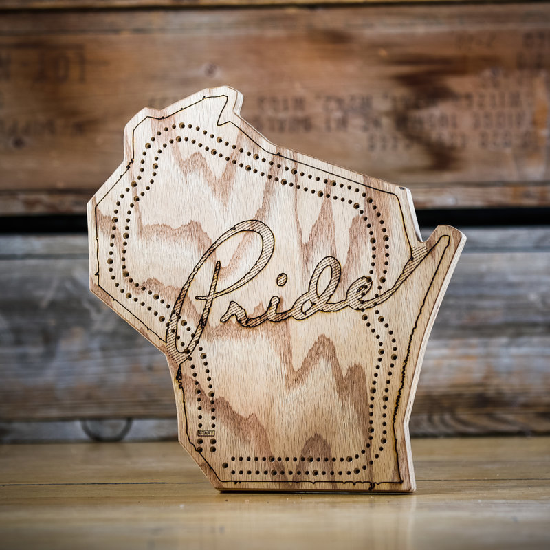Wisconsin Cribbage Board - Pride