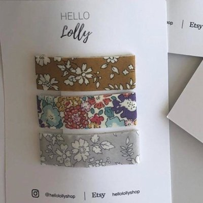 Fabric Snap Clips (Set of 3)