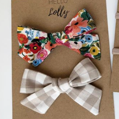 Fabric Bow Clip (Set of 3)