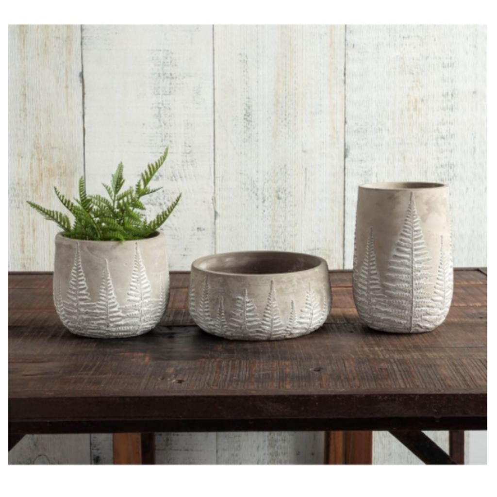 Volume One Cement Vase - Fern (Tall)