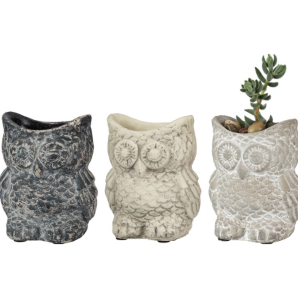 Volume One Cement Planter - Owl (Small)