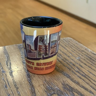 Volume One Shot Glass - Vintage Greetings From Eau Claire