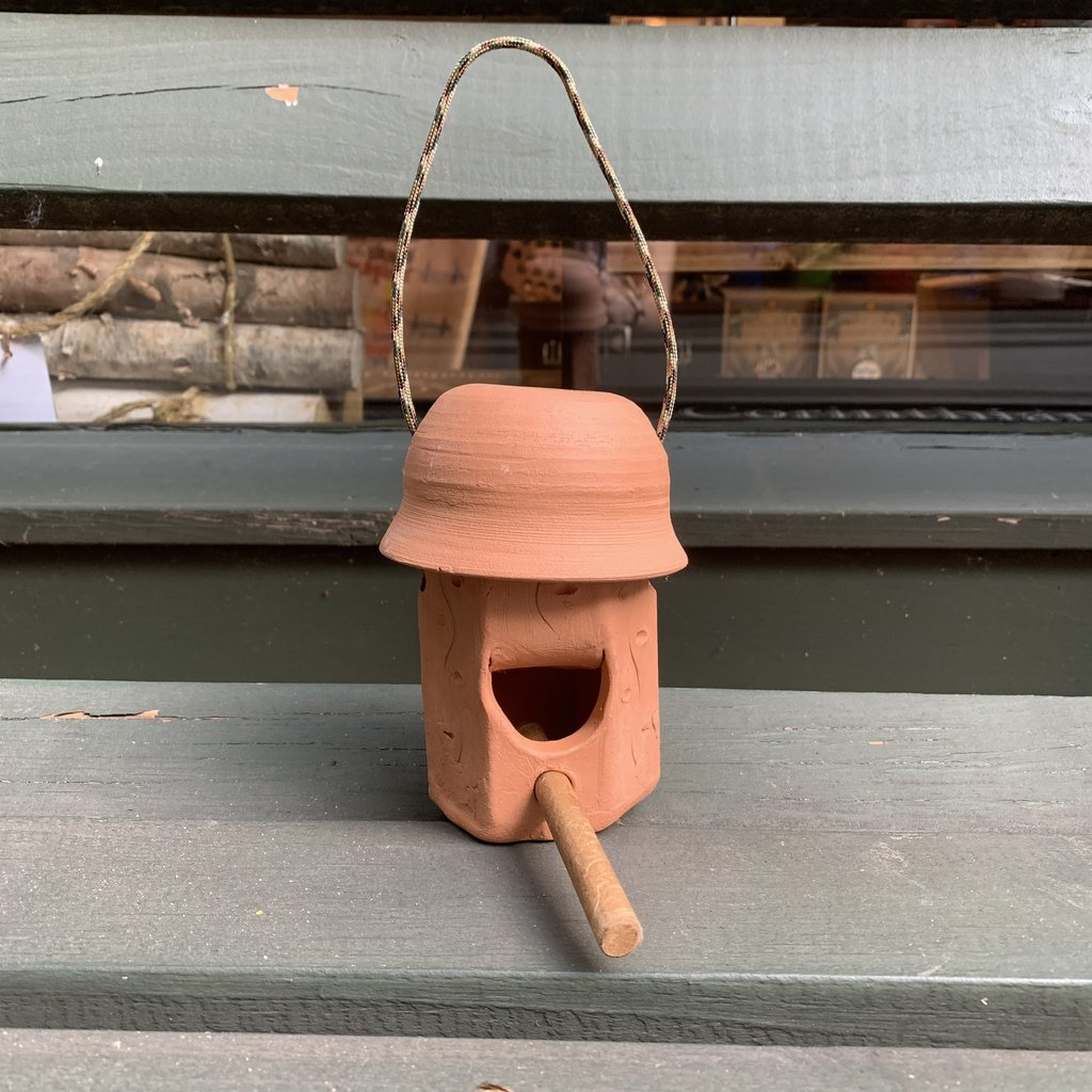 Ann Wrzosek-Manor (Meadowsong Studios) Small Terra Cotta Hanging Bird House