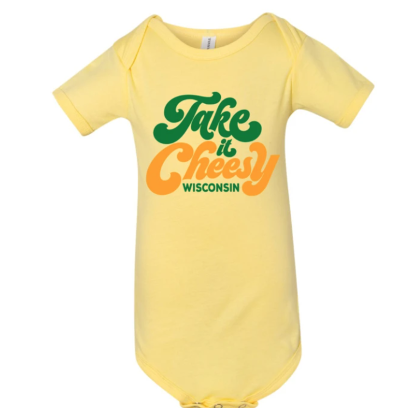 Giltee MKE Onesie - Take it Cheesy Wisconsin