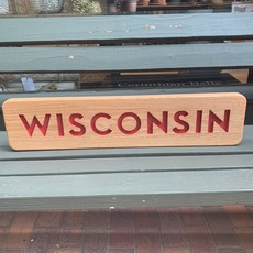 Large Wisconsin Wood Sign (22x26)