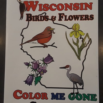 Wisconsin Coloring Book - Birds & Flowers