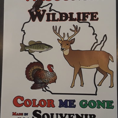 Wisconsin Coloring Book - Wildlife