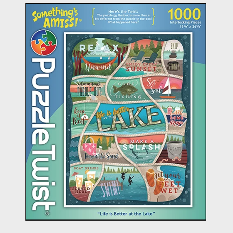 Life is Better at the Lake - 1,000 Piece Puzzle