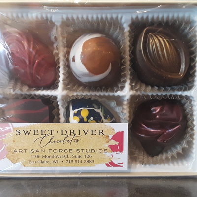 Sweet Driver Chocolates 6-Piece Truffle Box (Assorted)