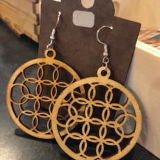 Laser Engraved Earrings - Wood (Assorted)