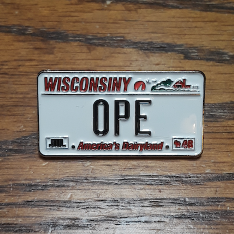 Lapel Pin - Ope License Plate