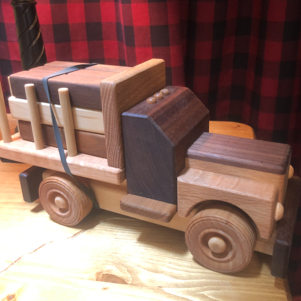 Hower Toys Hower Toys - Log Truck Wooden Toy