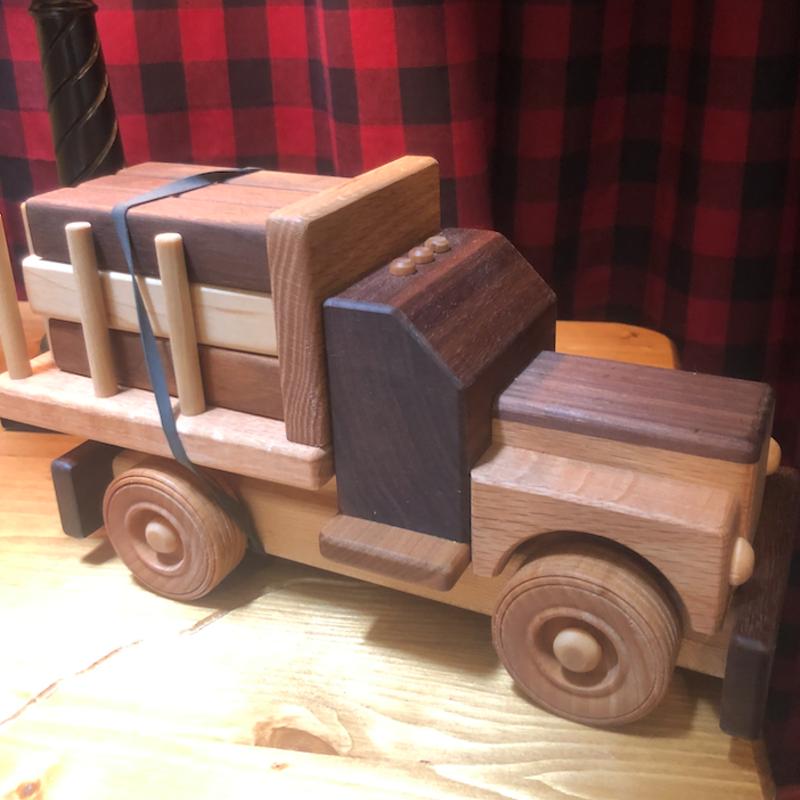 Hower Toys Hower Toys - Log Truck Wooden Toy