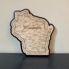 Volume One Cribbage Board - Wisconsin