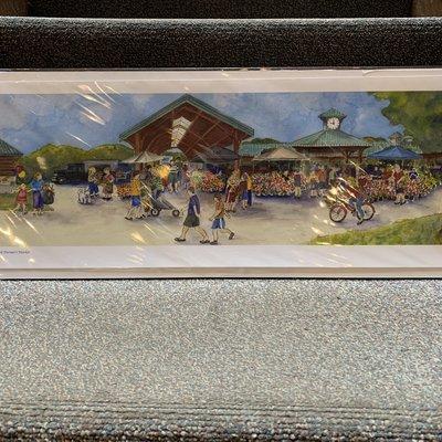 Ruth Lundblad Farmers Market Print 7.5x22