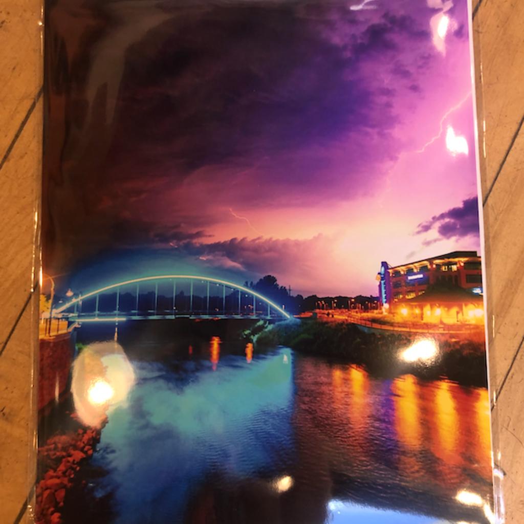Lightning at the Bridge - 11x14