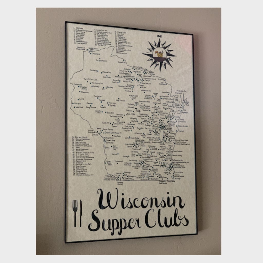 Wisconsin Supper Clubs Map