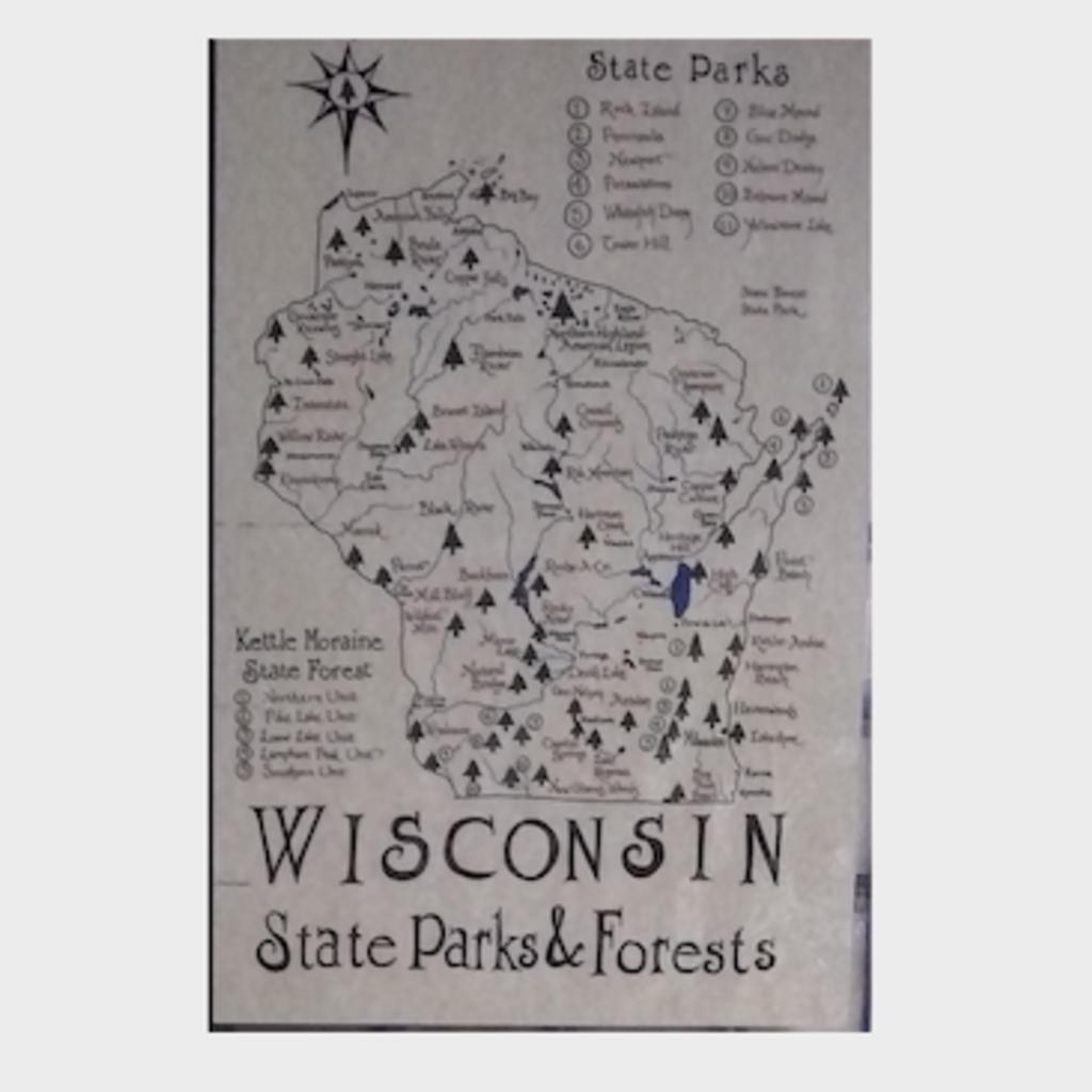 Wisconsin State Parks & Forests Map