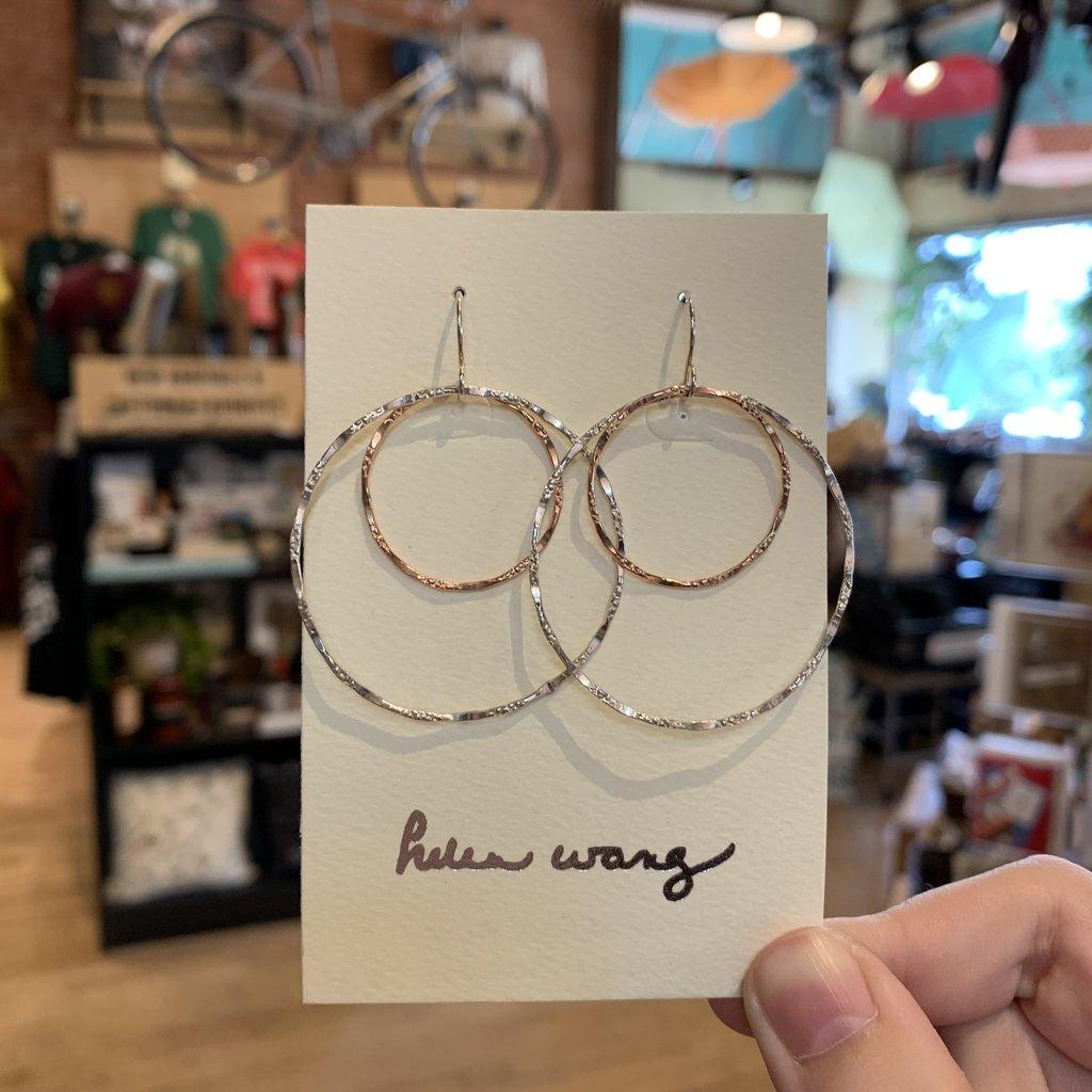 Helen Wang Jewelry Earrings - Rose Gold/Silver Circle