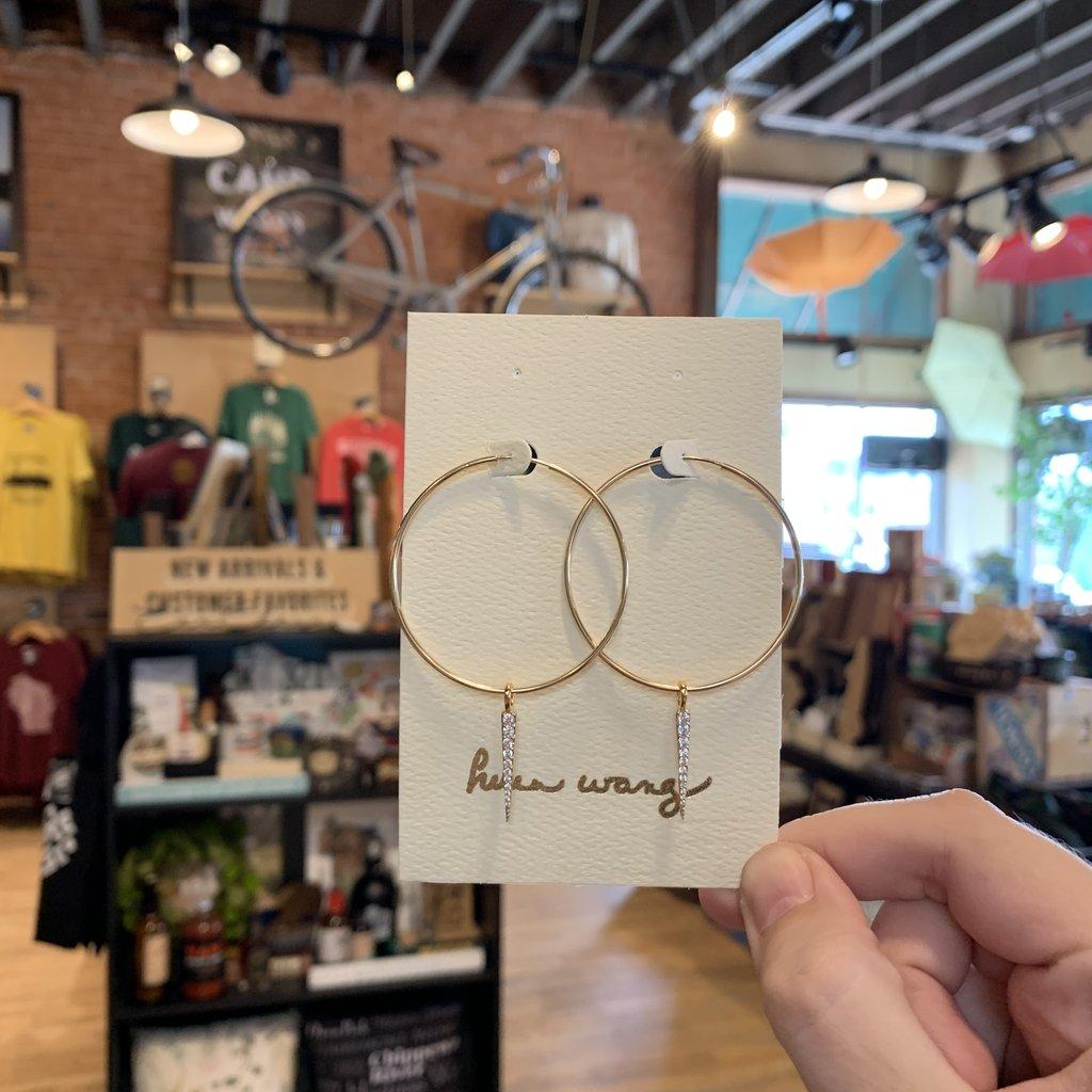 Helen Wang Jewelry Earrings - Gold Hoops CZ Spikes