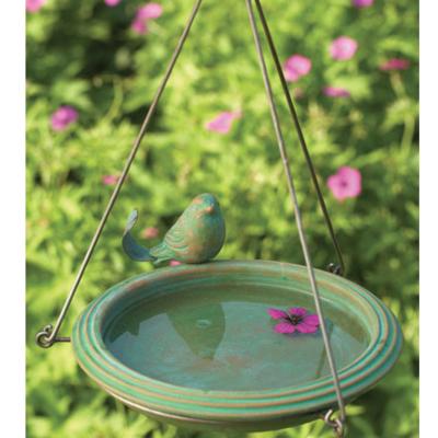 Volume One Bird Bath - Teal Round